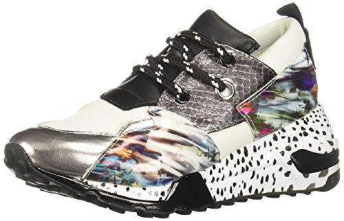 Steve Madden JCLIFF 660 Zapatillas de Deporte para Niñas, Color Gris Multicolor, 23 M MX
