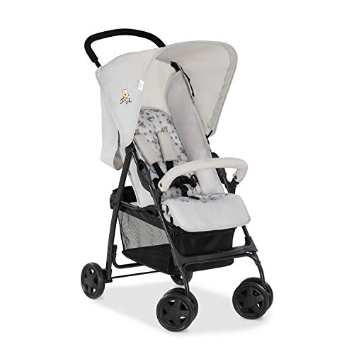 Hauck Disney Buggy Sport/Ultra Light - Only 5.9 kg/Small Foldable/XL Shopping Basket/with Reclining Position/Sun Canopy/Maximum Load 18 kg/Winnie The Pooh