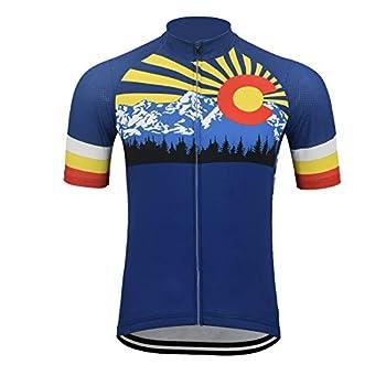 OUTDOORGOODSTORE Men s Cycling Jersey Bike Short Sleeve Shirt Colorado XL- Chest 42 -45