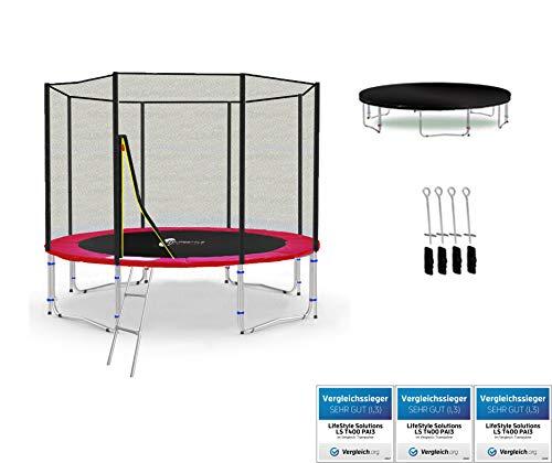 LifeStyle ProAktiv Trampoline LS-T305-PA10 (R) de Jardin - 305 cm - 10ft - Fort Filet de Sécurité - 180kg Capasite - New