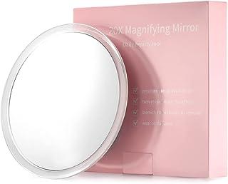 20X Grossissant Miroir avec 3 ventouses de Montage - Utilisation pour Miroir de Maquillage - Épilation des Sourcils - Épil...