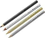 Faber-Castell Jumbo Grip - Lápices de colores, Metallic Set