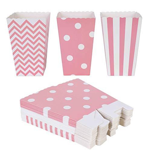 QIMEI-SHOP Popcorn-Boxen 36 Stück Popcorn Tüten Pappe Candy Container für Party Snacks Süßigkeiten Popcorn und Geschenke 12*7 cm