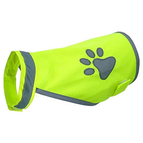 Haustier-Sicherheitsweste, hohe Sichtbarkeit für Outdoor-Aktivitäten Tag und Nacht, reflektierende Kostüme, Hunde-Brustgeschirr, verstellbar, Grün m Wie abgebildet
