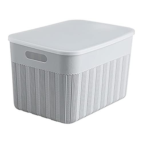 NZQK Caja de Almacenamiento de Ropa contenedores con Tapa Bocadillos Caja de Juguete Ropa Interior Organizador Contenedor de plástico Caja de gabinete Home Closet Organizador