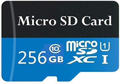 Tarjeta Micro SD de 256 GB de Alta Velocidad diseñada para teléfonos Inteligentes Android, tabletas Tarjeta de Memoria SDXC de Clase 10 con Adaptador (256 GB-b)