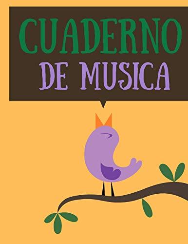 Cuaderno de musica: Cuaderno De Musica Pentagramado, Con 8 Pentagramas Por Página, Muy Fácil Para Escribir Notas; Libreta Notación Musical, Tamaño A4, ... para escuela y práctica individual 2019 2020