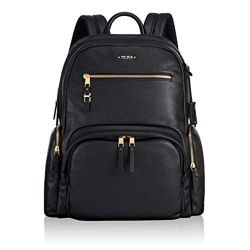 Tumi Voyageur Carson Backpack Black Leather One Size