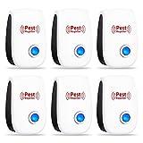 Ultrasonic Pest Repeller 6 Pack, Ultrasonic Pest...
