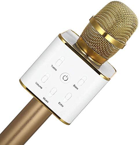 Fesjoy Q7 draadloze microfoon Palmare karaoke microfoon draagbare muziekspeler zangmicrofoon KTV