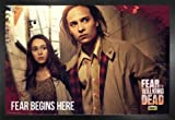 1art1 Fear The Walking Dead Póster con Marco (Madera DM) - Fear Starts Here (91 x 61cm)