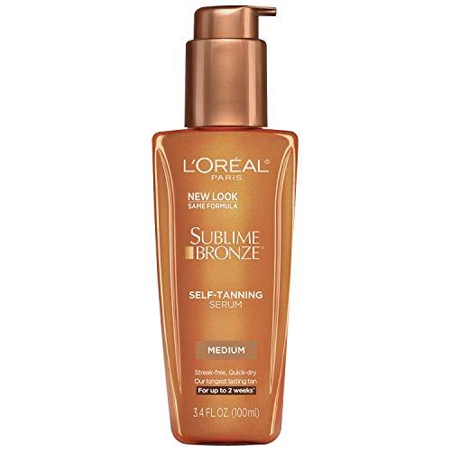 L'Oreal Paris Skincare Sublime Bronze Self-Tanning Serum Medium Natural Tan 3.4 fl. oz.