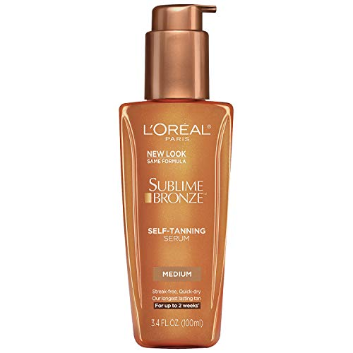 L'Oreal Paris Sublime Bronze Self-Tanning Serum, Lightweight, Quick-dry, Lasting for up to 2 weeks, Medium, 100 ml