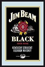 Jim Beam Bourbon Whiskey Label Logo Black Nostalgia Espejo de BAR Espejo BAR Espejo 22 X 32CM