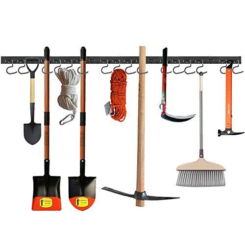 Proster Einstellbares Garagen werkzeug 64Zoll Einstellbares Aufbewahrungssystem mit 16 Haken Wandhalterungen für Werkzeuge, Organizer für Gartengeräte, Garagenlagerung