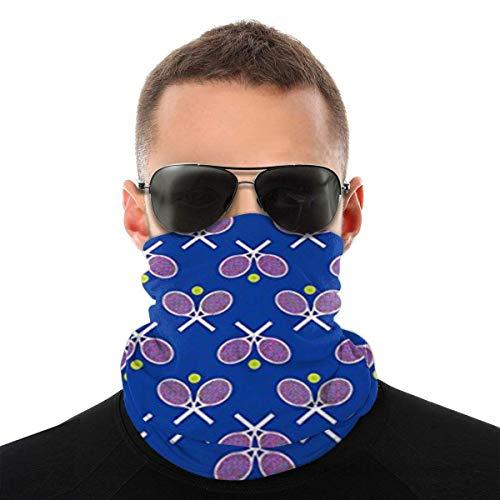 WH-CLA Calentador De Cuello Raquetas De Tenis Azul Hombre Sombreros para Exteriores Bandana Multifuncional Sin Costuras A Prueba De Viento Mujeres Cálidas Protección Solar Deportes Cuell