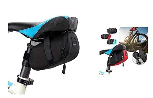 Eva Shop® Premium Sacoche de selle ultra compacte et légère étanche en nylon pour tube supérieur de vélo, sacoche de cadre pour VTT, vélo de route, Pedelec UVM (Noir)