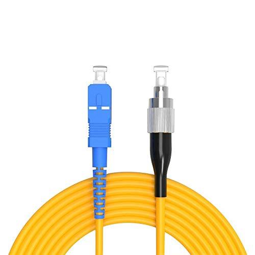 Buacoz 30Meters 100ft SC/UPC-FC/UPC Single-Mode Fiber Optic Cable SC...