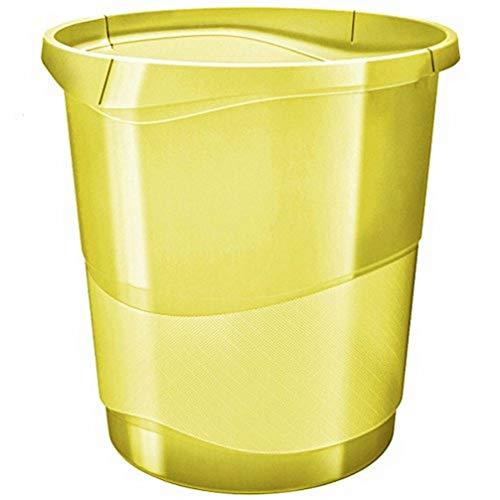 Esselte Papelera, 14L, Plástico, Amarillo, Colour'Ice, 626287