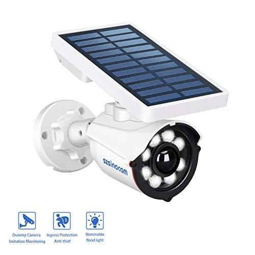 SZSINOCAM Luce Solare Esterno con Sensore di Movimento, Wireless 8 LED Luce Esterno Solare Sensore Movimento,800 Lume Luci Solari da Parete Impermeabile,Luce Solare Esterno Giardino,Patio,Portico