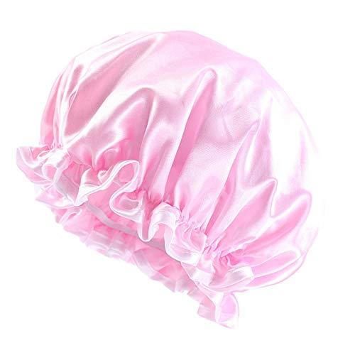 YiyiLai Bonnet de Nuit Turban Lisse Cheveux Coiffure Rose Clair-25cm