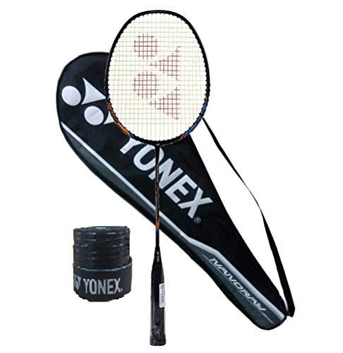 Yonex Nanoray Light 18i Graphite Badminton Racquet (77g, 30 lbs Tension) & Full Cover with 1Grip