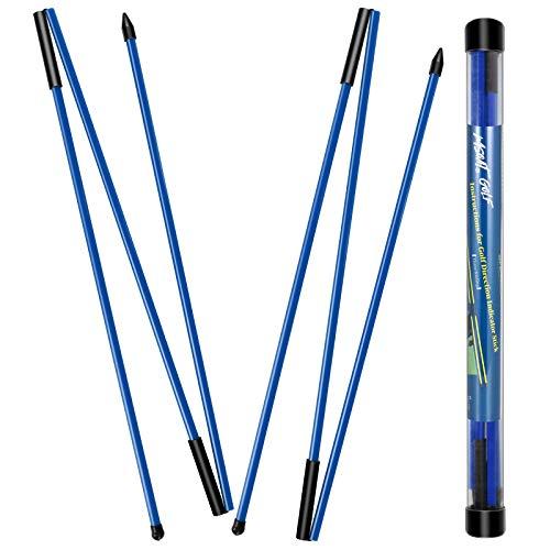 MSOAT Bastoncini di Allineamento per Il Golf Aiuto per l'allenamento 3 sezioni Canne da Pratica Pieghevoli Attrezzatura per l'allenamento da Golf Alignment Stick Postura Confezione da 2