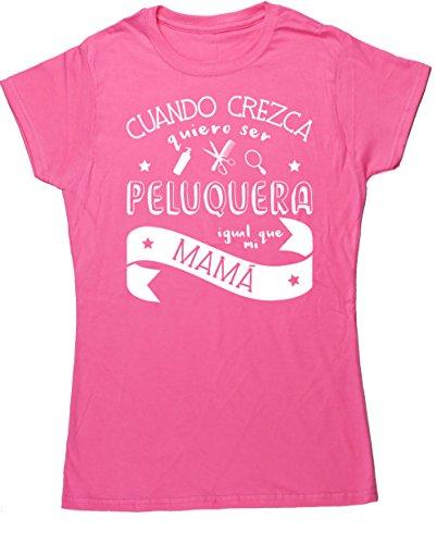 HippoWarehouse Cuando Crezca Quiero Ser Peluquera Igual Que Mi Mamá camiseta manga corta ajustada para mujer