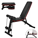 Adjustable Weight Bench Multi-function Dumbbell Bench Foldable Workout Benchs Incline/Decline Sit Up Ab Bench Fitness Equipment for Abdominal Sit-ups Fitness Workout Home Exercise