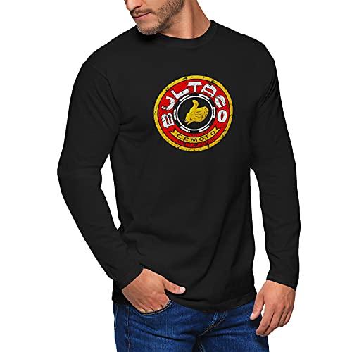 Camiseta Manga Larga T-Shirt Moto Bultaco Vintage Hombre Motero, Tamaño:XL, Color:Negro