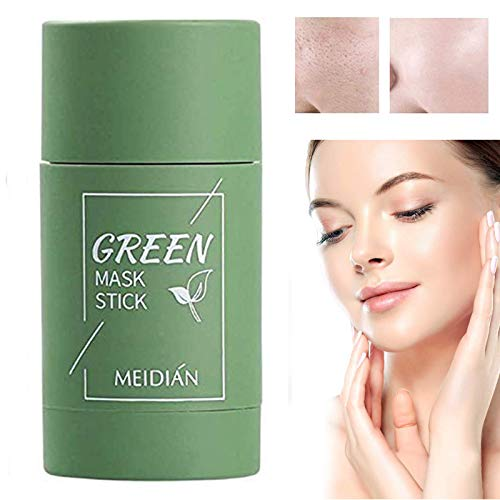 Abula Grüner Tee Purifying Clay Stick Mask Ölkontrolle Gesichtsmaske, Stick Deep Cleansing Anti-Akne-Maske Fine Solid Mask Green Tea,Clean Pore, Improves Skin for All Skin Types