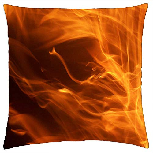 LESGAULEST Throw Pillow Cover (24x24 inch) - Dancing Flames Flame Fire Fiery Fire Ball Engulfed