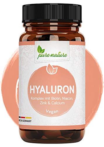 Hyaluronsäure Komplex 500mg hochdosiert mit Biotin, Niacin, Zink & Calcium - 90 Tabletten rein OHNE Zusätze - LABORGEPRÜFT & vegan