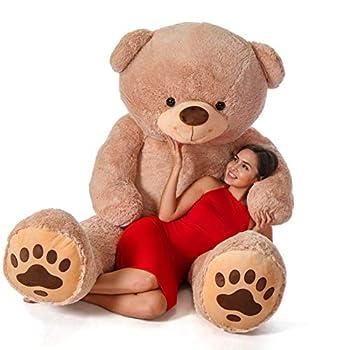 Giant Teddy Brand - Premium Quality Giant Stuffed Teddy Bear  Amber Tan 7 Foot