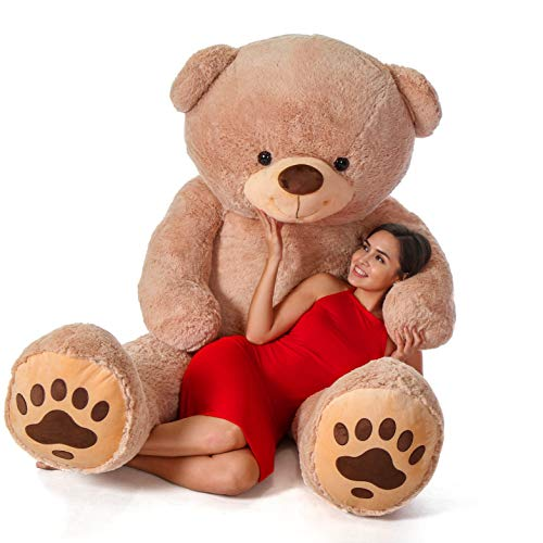 Giant Teddy Brand - Premium Quality Giant Stuffed Teddy Bear (Amber Tan, 7 Foot)