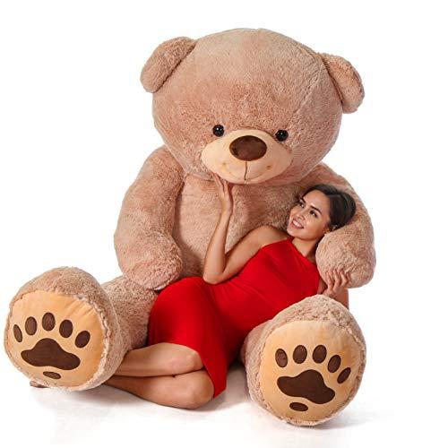Giant Teddy Brand - Premium Quality Giant Stuffed Teddy Bear (Amber Tan, 7 Foot)