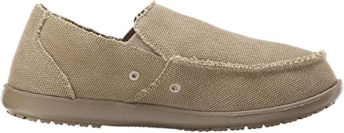 Crocs Men's Santa Cruz Loafer, Khaki/Khaki, 8 D(M) US