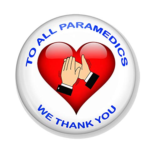 Gifts & Gadgets Co. To All Paramedics We Thank You Miroir de maquillage rond 77 mm Motif cœur Idéal pour sac à main ou poche