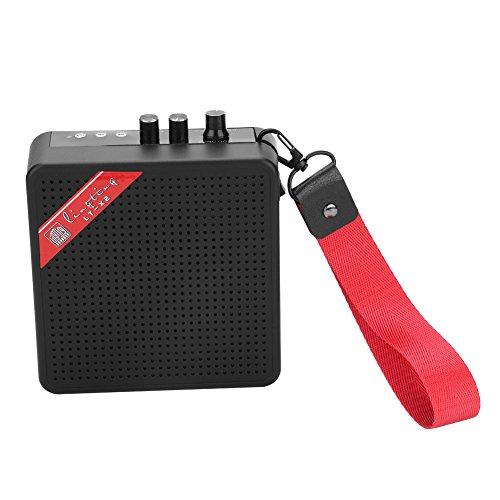 Dilwe 5 W mini versterker, Bluetooth gitaar SD-kaart ingang luidspreker met USB & 9V batterij voeding
