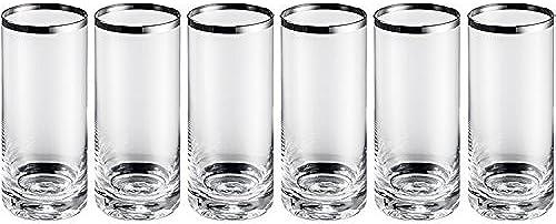 Set von 6  r für Long Drink in Kristall Mundgeblasen