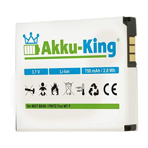 Akku-King Akku kompatibel mit AVM BD50, 312BAT006 - Li-Ion 750mAh - für Fritz!Fon MT-F, M2, C4, C5, Fritz Fon Akku
