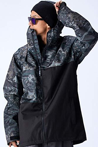 スノーボード ウェア メンズ ジャケット 全15カラー 6サイズ(XXS~XL) スノボウェア メンズ レディース 19-20 W_RAY ダブルレイ 上 J16-J30 (J20:ミリタリー/黒, L)