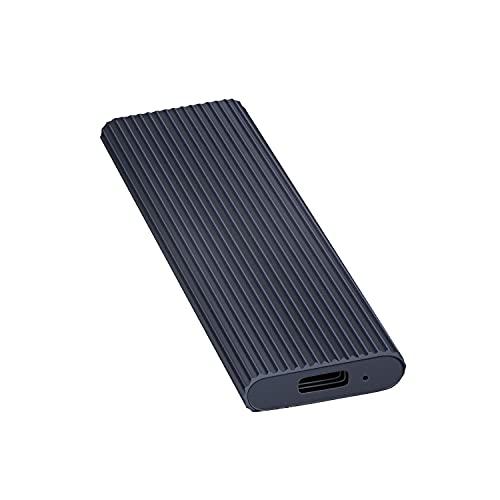 External Hard Drive1TB 2TB Portable External Ultra Slim Hard Drive Portable HDD Type C Hard Drive for Mac PC (2TB Black)