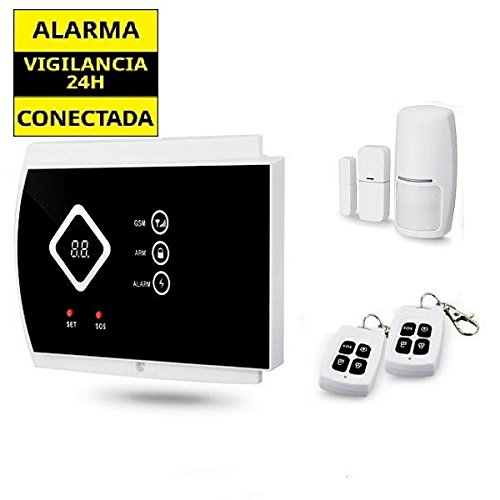 Alarma GSM Hogar inalámbrica G10A AZ016 con pantalla led y control remoto mediante APP mensajes texto SMS. Sin cuotas conexión. Funciona con tarjeta SIM GSM. Alarma para casa. Alarma en propiedad