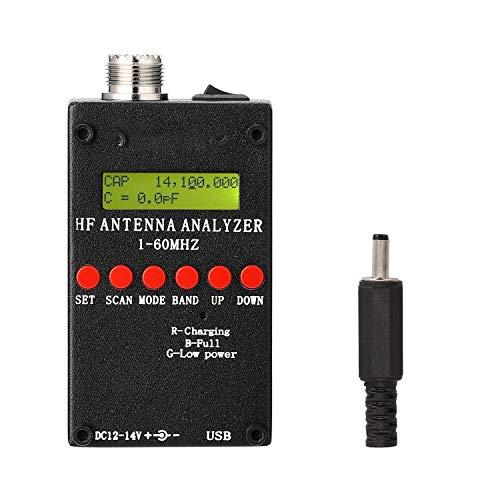 TEVISE 1-60MHz HF ANT SWR Antenna Analyzer Meter mit BT Android APP PC-Software for Ham Radio hobbists für Antennen