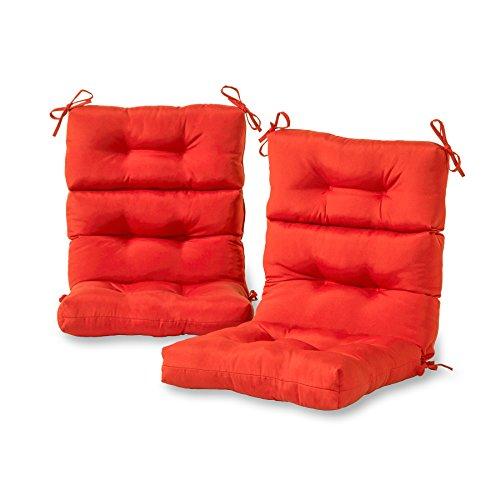 Greendale Home Fashions AZ6809S2-SALSA Fire Outdoor High Back Chair Cushion (Set of 2)