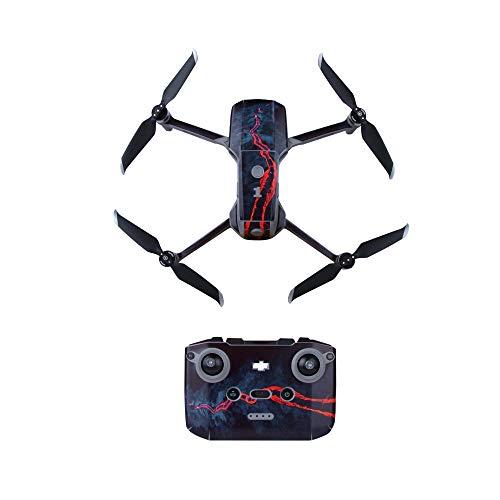 Linguhang Drone Decalcomania Impermeabile AntiGraffio di Protezione Guardia Skin Guard per DJI Mavic Air 2 Droni Accessori (Magma Vulcanico)