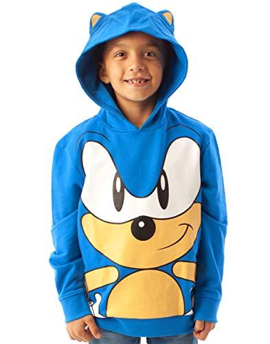 Sonic The Hedgehog con Capucha 3D oídos de los niños Boy Azul con Capucha Jumper