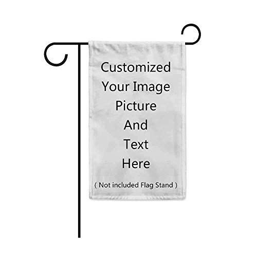 Blank Solid White Garden Flag - DIY Personalized Craft Banner for Custom Outdoor Yard Decoration Sign Design - Crayon, Painting, Embroidery