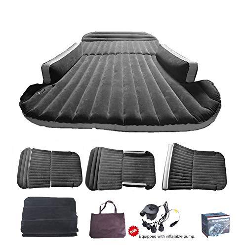 Sinbide Abziehbar Auto Luftmatratzen Luftbett Camping aufblasbare Matratze Isomatte Auto SUV MVP mit Pumpe (schwarz)